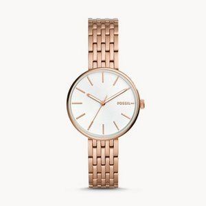 🌼 NWT Fossil rose gold tone watch